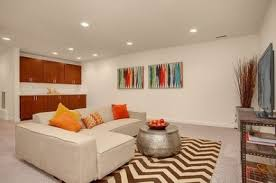 cala hammered coffee table contemporary basement with carpet built in bookshelf in seattle