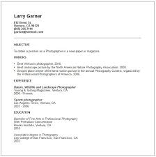 Electronic Resume Example by Photographer Resume Template Professional Photographer Resume