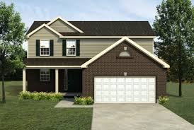 Colonial American Homes by Mi Harvest Front Entry Lombardo Homes