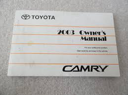 2003 toyota camry owners manual toyota amazon com books