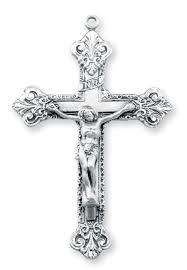 rosary supplies ornate sterling silver crucifix rosary parts by hmh