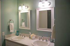 bathroom remodel vessel sink paint is rain by sherwin williams