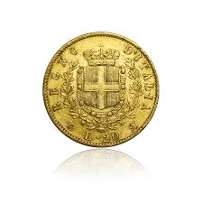 stuttgart coat of arms 20 lire vittorio emanuele ii italy gold coin repurchase