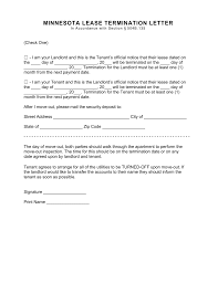 minnesota lease termination letter form 30 day notice eforms