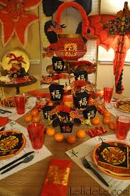 chinese new year of the sheep ram party décor ideas with formal