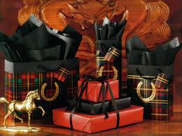 metallic gift wrap 8 gift wrap assortment plaid with metallic gold horseshoe
