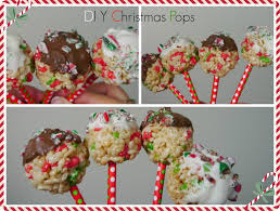 easy diy christmas chocolate covered rice krispie pops recipe