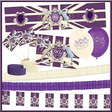 purple and ivory the s 90th birthday decoration pack packs