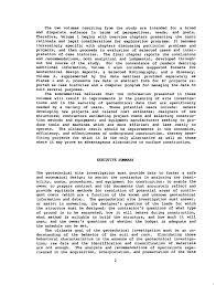executive summary engineering report example