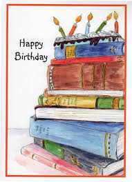 happy birthday book birthday book cake stack of books candles birthday cake