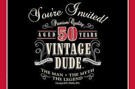 50th birthday invitations for him dhavalthakur com