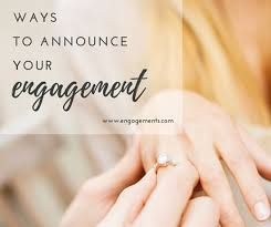engagement announcements ring engagement announcement post templates by canva