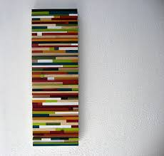 colorful wall made of wood multicolored artwork