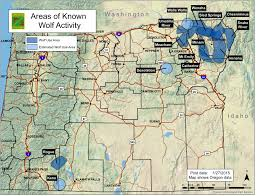 map of highway 395 oregon january 2015 wolves in california