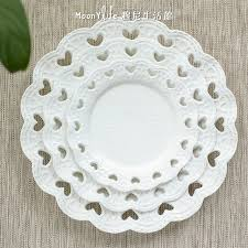 love hollow disk continental food wedding wedding cake plate flat