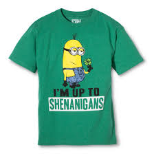 st patrick u0027s day minion t shirt i u0027m up to shenanigans