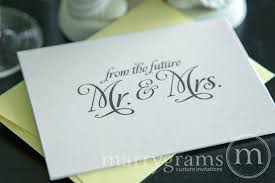 Couple S Shower Wedding Shower Thank You Card U201cfrom The Future Mr U0026 Mrs U201d