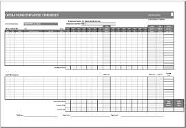 Excel Work Timesheet Template Operations Employee Card Template Ms Excel Excel Templates
