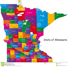 State Map Of Minnesota by State Of Minnesota Royalty Free Stock Photos Image 10237878