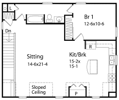 One Bedroom Cabin Floor Plans by Colonial Style House Plan 1 Beds 1 00 Baths 1240 Sq Ft Plan 22 432