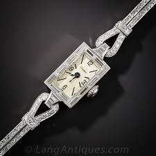 cartier watches bracelet images Cartier platinum and diamond mid century bracelet watch jpg