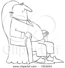 An Armchair Royalty Free Vector Clip Art Illustration Of A Black And White
