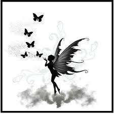 image result for fairy tattoo silhouette goth tats pinterest