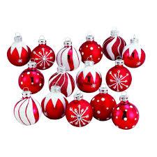 amazon com kurt adler 1 57 inch red white decorated glass ball