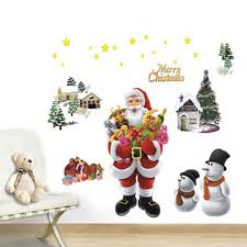 christmas removable merry chrsitmas wall window sticker home home decor sku302586 1