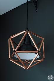 Diy Hanging Light Fixtures Remodelaholic Diy Geometric Copper Pipe Pendant Light