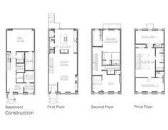 row home plans brownstone row house floor plans search floorplans