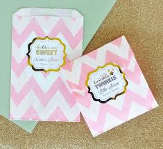 gold favor bags birthday favor bags candy buffet bags pink and gold goodie