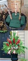 Grapevine Snowman For Outdoors by 24 Colorful Outdoor Planters For Winter And Christmas Decorations