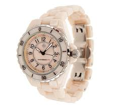 isaac mizrahi live ceramic watch with mother of pearl dial page