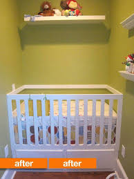 When To Convert Crib To Toddler Bed Before After Diy Crib Turned Toddler Bed Turned Crib Again
