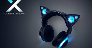 light up cat headphones axent wear cat ear headphones indiegogo