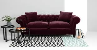 What Is Chesterfield Sofa Bardot 3 Seater Chesterfield Sofa Merlot Velvet Made Com