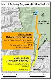 Grand Teton Map Multi Use Pathway To Open In Early Summer Grand Teton National