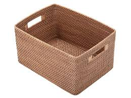 cane laundry hamper rectangular rattan storage basket u0026 reviews allmodern