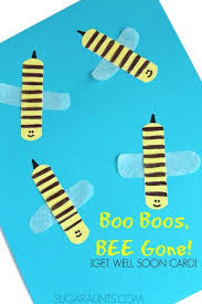 cards for sick friends boo boos bee get well soon card sick bees and craft