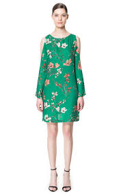 image 1 of dress with cut out sleeves from zara so i would define
