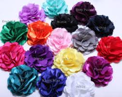 wholesale silk flowers 2 pcs newborn flower large soft petal ruffle peony flower hair