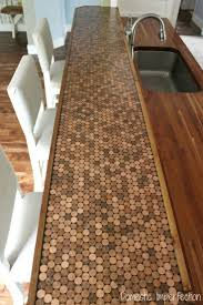 14 best material technology images on pinterest kitchen ideas step by step tutorial on how to make a penny countertop including what not to do