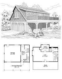 bungalow cottage craftsman garage plan apartment two story awesome