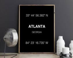 Home Decor Atlanta Atlanta Poster Etsy