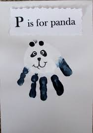 panda bear handprint teddy bear theme pinterest panda bears
