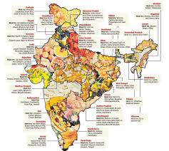 India On A Map Famous Food From Different Places Of India On The Map Of India