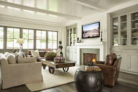 ceiling fireplace and builtins beach house ciao newport