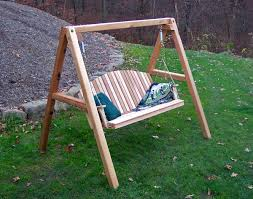 Porch Swing With Stand Wooden Porch Swing With Stand Home Design Styles