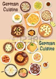 la cuisine allemande nourriture de cuisine allemande icône de plats de chou et de
